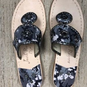 NEW Jack Rogers Gray Camo Sandals